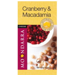 Photo of Moondarra Flavoured Cheese Cranberry & Macadamia 120g