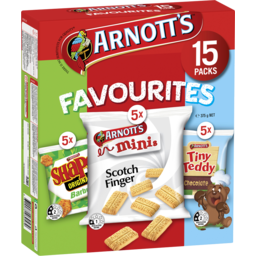 Photo of Arnott's Favourites Biscuits 15 Pack 375g