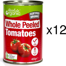 Photo of Absolute Organic Whole Peeled Tomatoes - Tray Of 12
