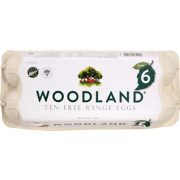 Photo of Woodland Eggs Free Range Size 6 10 Pack