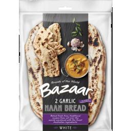 Photo of Bazaar® Naan Bread Garlic 2 Pack
