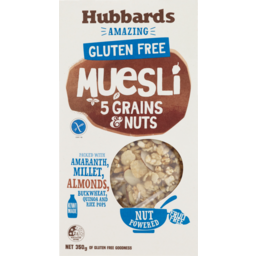 Photo of Hubbards Amazing Muesli Muesli Gluten Free 5 Grains & Nuts 350 Grm