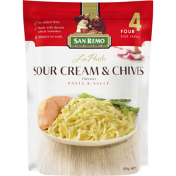 Photo of San Remo La Pasta Sour Cream & Chives Pasta & Sauce 120g