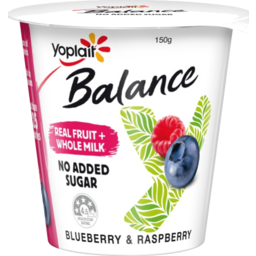 Photo of Yoplait Yoghurt Balance Blueberry & Raspberry150gm