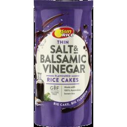 Photo of Sunrice Thin Rice Cakes Sea Salt & Balsamic Vinegar 195g
