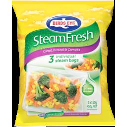 Photo of Birds Eye Steamfresh Carrot, Broccoli & Corn Mix 3 Steam Bags 450g