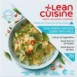 Photo of Lean Cuisine Thai Green Chicken Curry with Rice 280gm