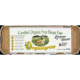 Photo of Organigrow Eggs Free Range Cert Org (12) 800g