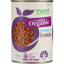 Photo of Macro Lentils Organic No Added Salt 425g