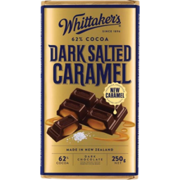 Photo of Whittaker's Dark Chocolate Block Salted Caramel 250g