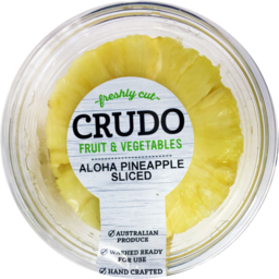 Photo of Crudo Aloha Pineapple Cored Sliced 450g
