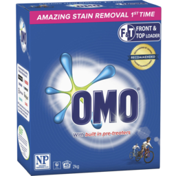Photo of Omo Active Clean Laundry Washing Powder Front & Top Loader 2kg