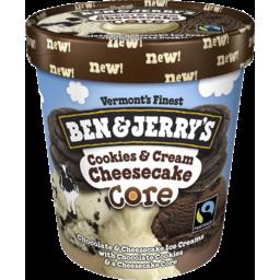 Photo of Ben & Jerrys Cookies & Cream Cheesecake Core 458ml