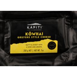 Photo of Kapiti Cheese Kowhai Gruyere Style 200g