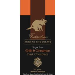 Photo of Chilli & Cinnamon Chocolate 90g