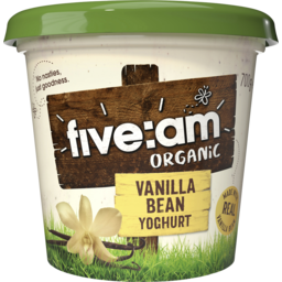 Photo of Five:Am Organic Vanilla Bean Yoghurt 700g