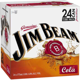 Photo of Jim Beam White & Cola Can 375ml 24 Pack