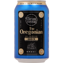 Photo of Fortune Favours The Oregonian American Amber Can 330ml