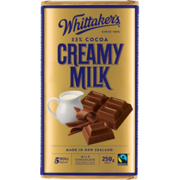 Photo of Whittakers Chocolate Block Creamy Milk 250g