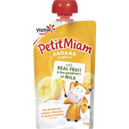 Photo of Yoplait Petit Miam Yoghurt Banana 70g Kids Pouch