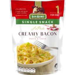 Photo of San Remo La Pasta Creamy Bacon Pasta & Sauce 80g