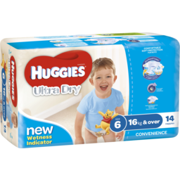 Photo of Huggies Ultra Dry Nappies, Boys, Size 6 Junior (16+Kg), 14 Nappies