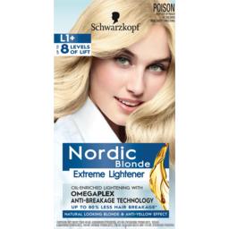 Photo of Schwarzkopf Nordic Blonde Extreme Lightener L1+ Hair Colour One Application