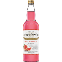 Photo of Bickfords Cordial Pink Grapefruit 750ml