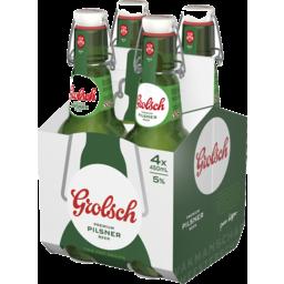 Photo of Grolsch Premium Lager Swing Top Bottle 450ml 4 pack