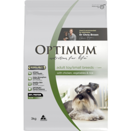 Photo of Optimum Dog Small Breed Chicken Rice Vegetable 3kg
