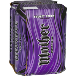 Photo of Mother Energy Drink Frosty Berry 4x500ml
