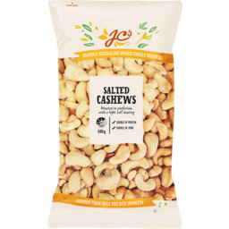 Photo of JC's Cashews Salted 500g
