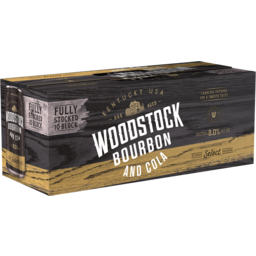 Photo of Woodstock Bourbon & Cola 8% 10x375ml