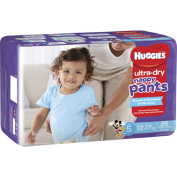Photo of Huggies Ultra Dry Nappy Pants, Boys, Size 5 Walker (12 - 17kg), 26 Nappy Pants
