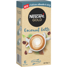 Photo of Nescafe Gold Coffee Mixes Coconut Latte 6 Pack 90g