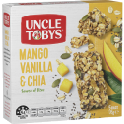 Photo of Uncle Tobys Muesli Bars Mango Vanilla & Chia 5 Bars 175g
