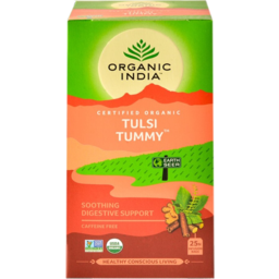 Photo of Organic India Tulsi Tummy Caffeine Free Infusion Bags 25 Pack 45g