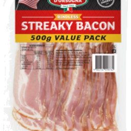 Photo of D'orsogna Rindless Streaky Bacon (500g)