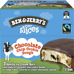 Photo of Ben & Jerry's Ice Cream Chocolate Chip Cookie Dough Pint Slices 270 Ml