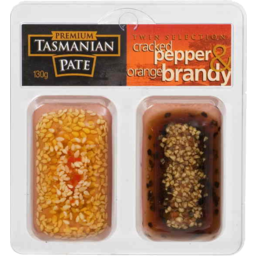 Photo of Premium Tasmanian Pate Twin Selection Cracked Pepper And Orange Brandy 130gm