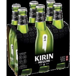 Photo of KIRIN MEGUMI BEER 6X330ML