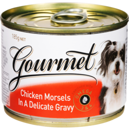 Photo of Gourmet Dog Food Chicken & Gravy 185g