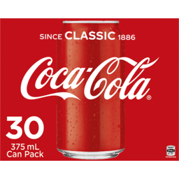 Photo of Coca-Cola Classic Soft Drink Multipack Cans 30x375ml