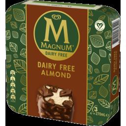 Photo of Magnum Ice Cream Dessert Sticks Dairy Free Almond Frozen 270ml