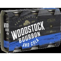 Photo of Woodstock Bourbon & Cola 10% 375ml 3 Pack