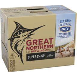 Photo of Great Northern Brewing Co. Super Crisp Lager Cans 30x375ml