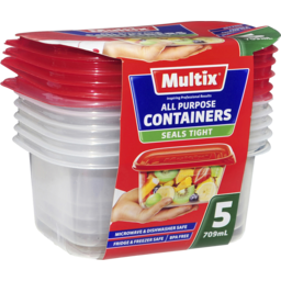 Photo of Multix All Purpose Containers 5x709ml