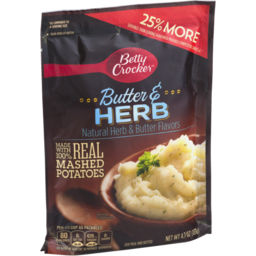 Photo of Betty Crocker Real Mashed Potatoes Butter & Herb