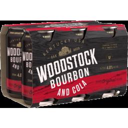 Photo of Woodstock Bourbon & Cola 4.8% 375ml 6 Pack