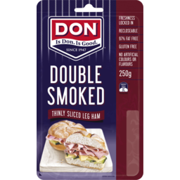 Photo of Don® Thinly Sliced Double Smoked Leg Ham 81786x250gm